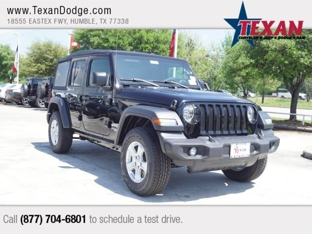 New 2018 JEEP Wrangler Sport S Sport Utility In Humble #J9090 | Texan  Chrysler Dodge Jeep Ram